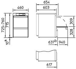 Rozměry myčky Winterhalter UC-S