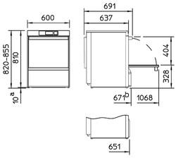 Rozměry myčky Winterhalter UC-XL